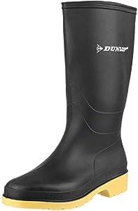 Dunlop RAPIDO PVC LAARS GROEN, Escarpines para Niños, Schwarz, 41 EU