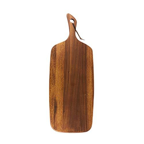 Tablero de charcuterie de la fiesta de madera de acacia con mango de madera Charcuterie Board Board Sirvir Tablero Pan Sirviendo Tablero para alimentos cocidos, verduras, frutas, queso, carne