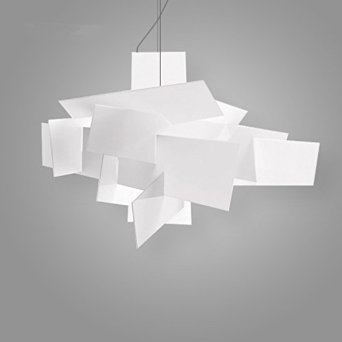 Koalala Après La Personnalité Créative Moderne Nordique Arts Restaurant Bar Big Bang Acrylique Blanc Lampe Lustre D'Empilage