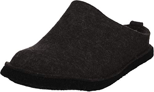 Haflinger Flair Soft Pantoffeln Unisex-Erwachsene, Grau (Graphit 77), 42 EU