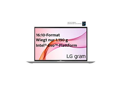 LG gram 16 Zoll Ultralight Notebook NEW 2021 Edition - 1,19 kg leichter Intel Core i7 Laptop (16GB LPDDR4, 512GB SSD, 22 h Akkulaufzeit, WQXGA IPS Display, Thunderbolt 4, Windows 10 Home) - Silber