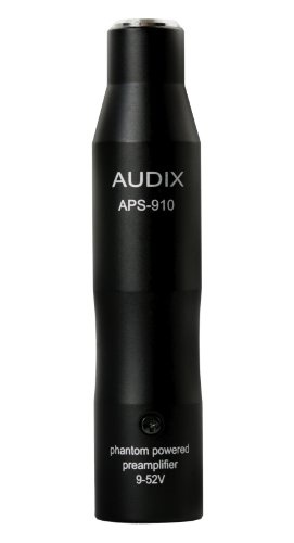 Audix APS-910 Phantom Power Adapter for ADX40, Microd, HT2P, Adx10Flp, Adx10P, Adx20Ip & ADX60 Microphones