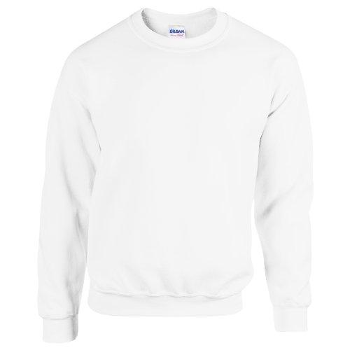 Gildan Herren Sweatshirt, Weiß, M