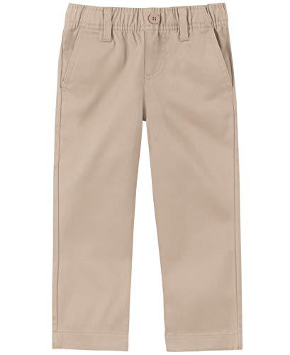 Nautica Little Boys' Uniform Elastic Waist Pull-On Twill Pant, Khaki, Medium/5