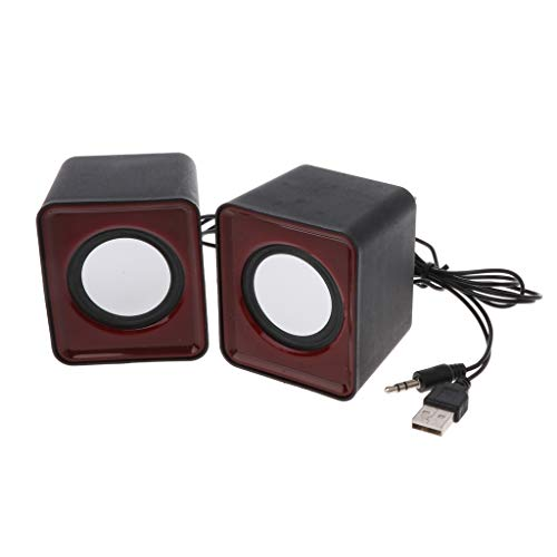 Junlinto, Wired Mini Speakers, USB 2.0 voor Laptop PC MP3 Multimedia Random Color