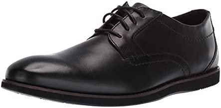Clarks Men's Raharto Plain Oxford, Black Leather, 110 M US
