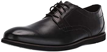 Clarks mens Raharto Plain Oxford Black Leather 9.5 US