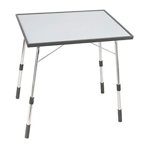 Lafuma Table de camping pliante, Hauteur réglable, 72,5 x 60,5 cm, Étanche, Louisiane, Couleur: Carbon, LFM1490-3631