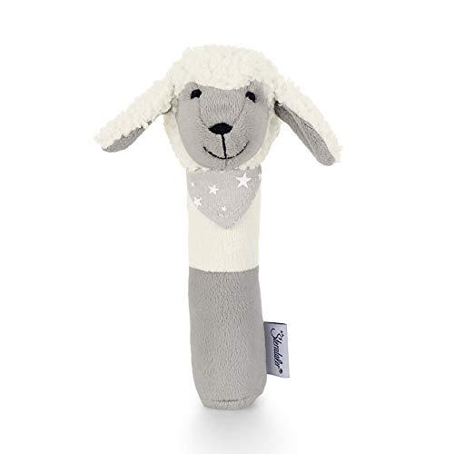 Sterntaler Hochet Stanley le Mouton, Âge : 0-36 Mois, Taille : 16 cm, Couleur : Blanc/Gris