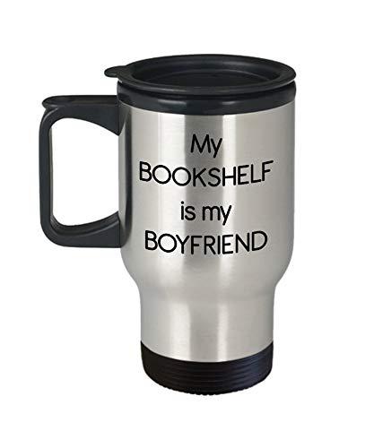14oz Mijn Boekenplank is Mijn Vriendje Reizen Mok – Cadeau voor Boek Liefhebber - Grappige Geïsoleerde Tumbler- Verjaardag Gag Geschenken Idee