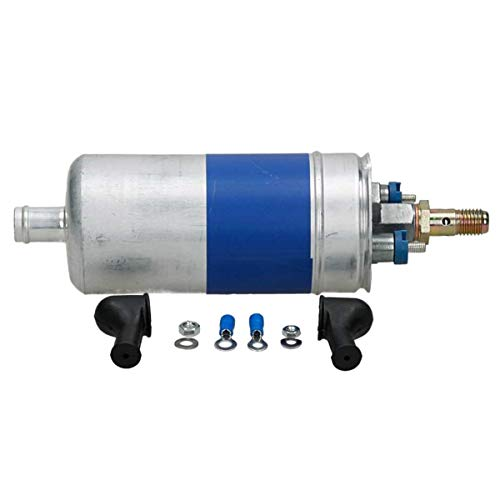 ECD Germany KP002 Bomba de Combustible Presión 6,5 bar 12 V para Coches Bomba Externa de Reemplazo Incluido Accesorios Posición de montaje : Línea Eléctrico Diámetro: 62 mm, Longitud: 201mm