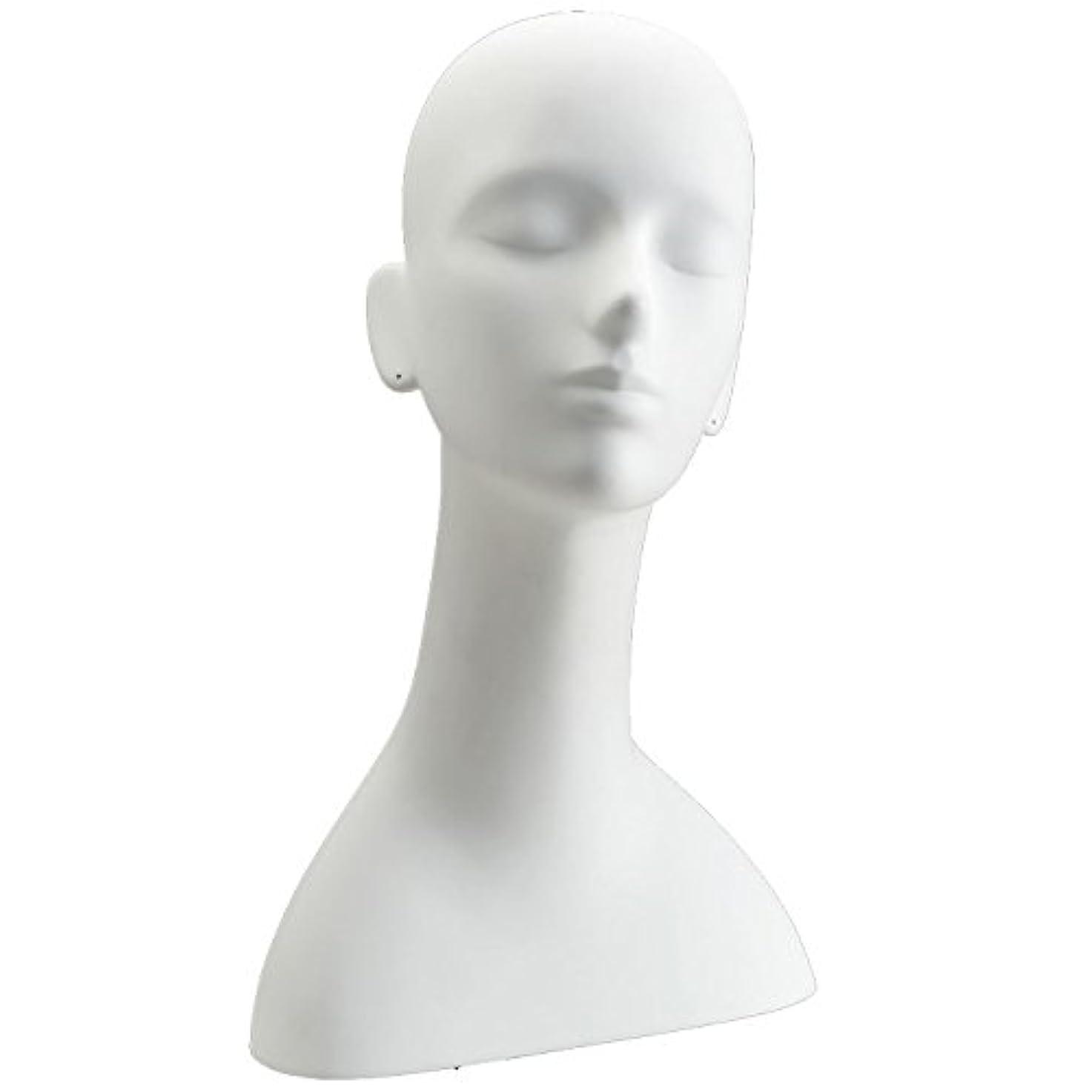 マルクス主義者病気調和キイヤ マネキンヘッド ヘッドトルソー ホワイト FRP樹脂製 ピアス穴加工済み TD-R5-25