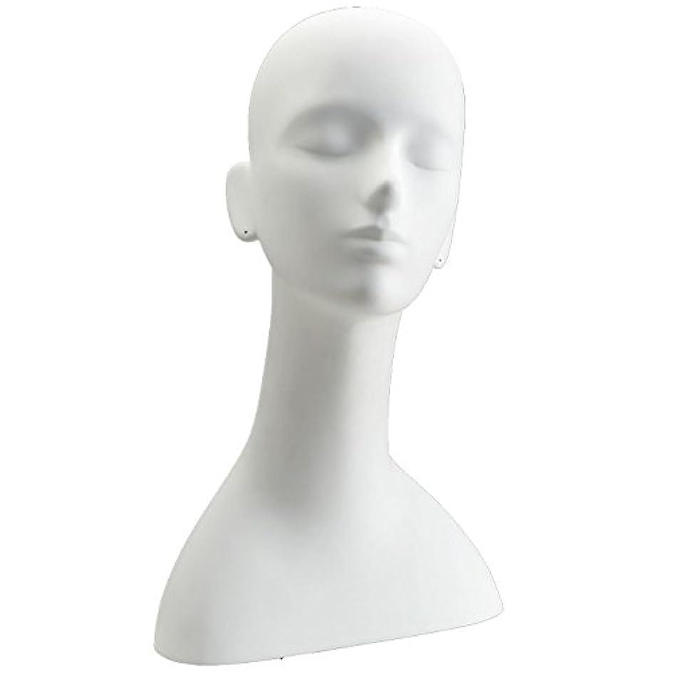 痛み甘やかす観光に行くキイヤ マネキンヘッド ヘッドトルソー ホワイト FRP樹脂製 ピアス穴加工済み TD-R5-25