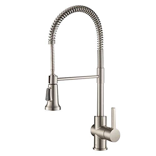 Product Image of the Kraus KPF-1690SFS Britt Pre-Rinse/Commercial Kitchen Faucet with Dual Function Sprayhead in all-Brite Finish, Spot Free Stainless Steel