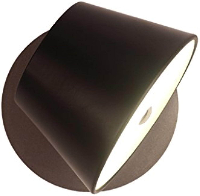 7W LED-Wand-Lampe, moderne einfache nordische Nachttischlampe, Schlafzimmer-Wohnzimmer-Lesewand-Lampe (Farbe   schwarz)