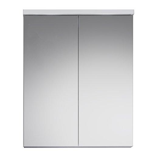 trendteam smart living Badezimmer Spiegelschrank Spiegel Nightlife, 65 x 80 x 21 cm in Weiß mit viel Stauraum