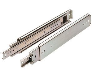 Drawer slide, Full Extension, 60 Inch, Heavy Duty, 500 Pounds Capacity, Zinc