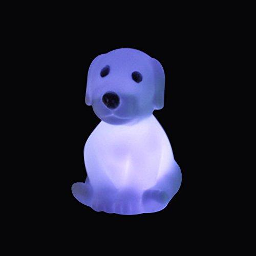 Nuohuilekeji - Jolie veilleuse ou lampe de chevet pour enfants en forme de chien, colorée, pour la chambre ou le bureau