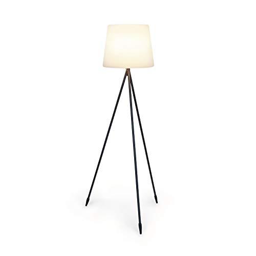 Blumfeldt Moody STX Lampe - Schutzklasse: IP65, Lampenschirm aus PE, extralanges Netzkabel mit 5 Metern, Lampenständer aus Stahl mit Pulverbeschichtung, Fassung: E27, max. 25 Watt, weiß