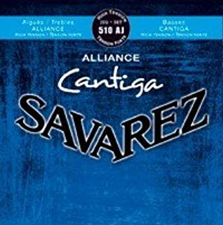 CUERDAS GUITARRA CLASICA - Savarez (510/AJ) Alliance Cantiga Azul Tension Fuerte (
