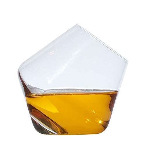 Decantador de vino Moda creativo Cristal sin plomo Tumbler Forma Decantador rápido Copa de vino tinto Whisky Copa de batido Copa de vino Decantador de vino Hogar Separador de botellas 250ML Jarra de R