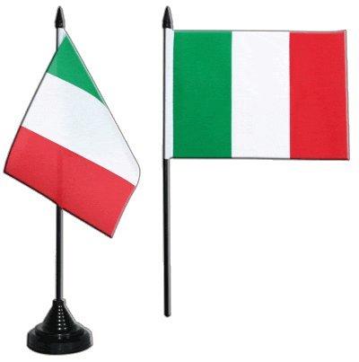 Flaggenfritze Tischflagge/Tischfahne Italien + gratis Aufkleber