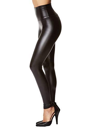 piannao Damen Kunstleder Leggings Lederhose High Waist Leggings Hose Strumpfhosen Treggins Leggins Kunstleder Leggings Leder Look hüfthoch