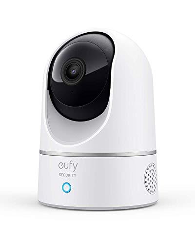 eufy Überwachungskamera, IP Kamera, Security Indoor Cam 2K für Innenbereiche, Plug-In Schwenk-Neige-Sicherheitskamera mit Sprachassistent, Bewegungssensor, HomeBase Nicht notwendig (Generalüberholt)
