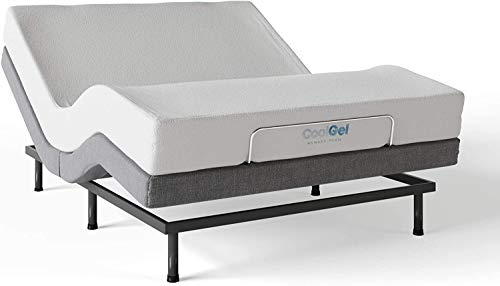 Classic Brands Cool Gel Ventilated Gel Memory Foam 8-Inch Mattress & Adjustable Comfort Base | Full