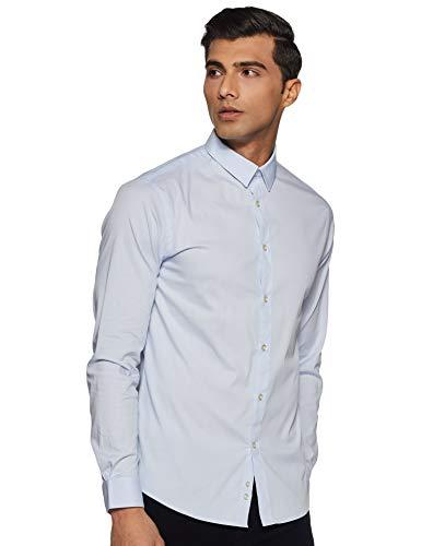 Celio Herren Jasantal2 Smoking Hemd, Blau (Light Blue 01), 42 (Herstellergröße : M)