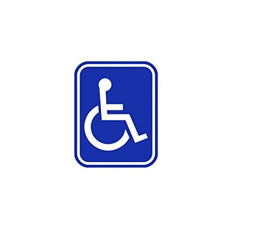 Wandtattoos Wandbilder(2 Teile/Satz) Handicap Symbol Aufkleber Zeichen Pvc Rollstuhl Behinderte Fenster Dekoration Tipp Auto Aufkleber 11.9 Cm X 15.2 Cm