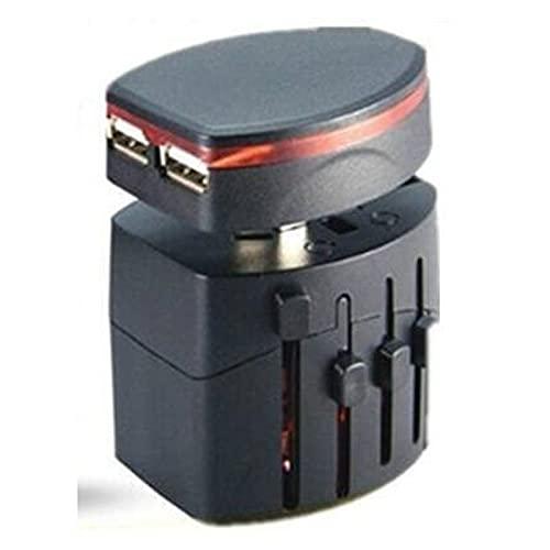 Convertidor de enchufe 2USB Adaptador de cargador universal del mundo del mundo enchufe todo en uno C.A. Convertidor de adaptador de corriente para ESTADOS UNIDOS / UK / AU / UE Enchufe Socket Interna