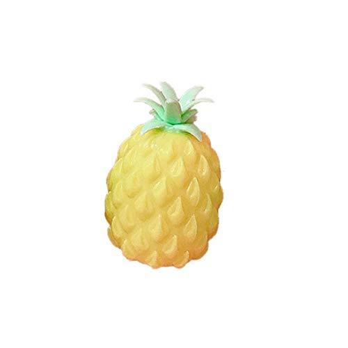 Langsam Rising Kawaii Duft Weiche Squishy Spielzeug Ananas-Form-Creme Duft Geschenk Für Jungen Und Mädchen Yellow 1pc