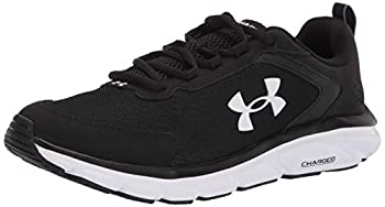 Under Armour mens Charged Assert 9 Running Shoe Black/White 10.5 US