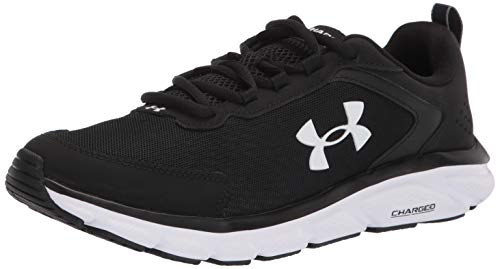 Under Armour Men's Charged Assert 9, Black (001)/White, 10 M US