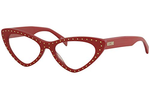 Moschino Women's Eyeglasses MOS/006/S MOS006S AU299 Red/Gold Optical Frame 52mm