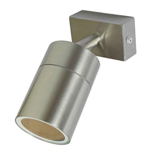 VBLED® Wand- und Deckenspot IP 54 inkl. 5,5W LED Leuchtmittel GU10 silber gebürstet schwenkbar