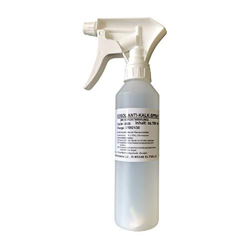 Emil Otto EOSOL Anti-Kalk-Spray, mit herausragender Sofortwirkung, extrem ergiebig, 250 g in Pumpsprühflasche, für Duschwände aus Echtglas, Fliesen, Glas u. Armaturen