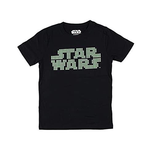 CERDÁ LIFE'S LITTLE MOMENTS Camiseta Brillo en la Oscuridad para Chicos de Star Wars-Licencia Oficial Disney, Gris Oscuro, 14 años para Niños