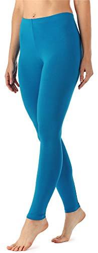Merry Style Damen Lange Leggings aus Viskose MS10-143 (Blau, L)