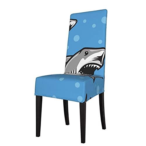 Stuhl Schonbezug Great White Sharks Stretch Bedruckte Stuhlhussen Waschbare Stühle Protector Sitzbezug für Stühle