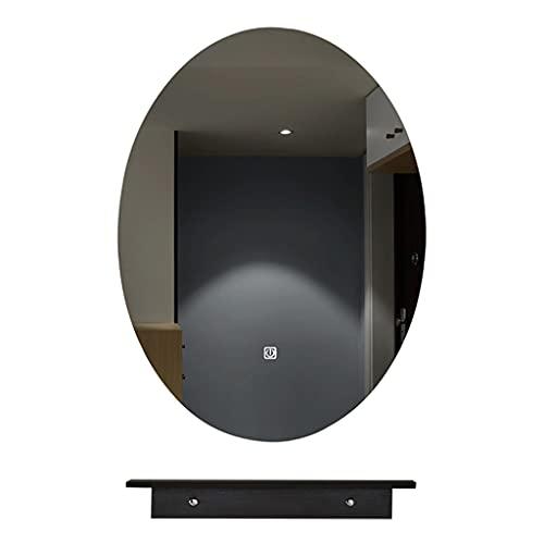 Led Frameloze Ovale Spiegel Wandmontage Spiegel, Badkamer Spiegel Met Plank, Hangende Ijdelheidspiegel, Voor De Badkamer…