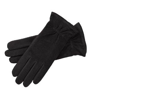Roeckl Damen Handschuh Wildleder 13011-133, Gr. 6.5, Schwarz (000)