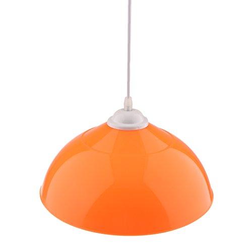 MagiDeal Sombra Semicircular Colgante de Lámpara de Techo Cubierta de Lámpara Colgante Decoración de Bombillas de Comedor de Hogar - Naranja