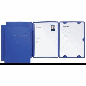 Pagna Bewerbungsmappe Select A4 3 Klappen mit Aufdruck blau