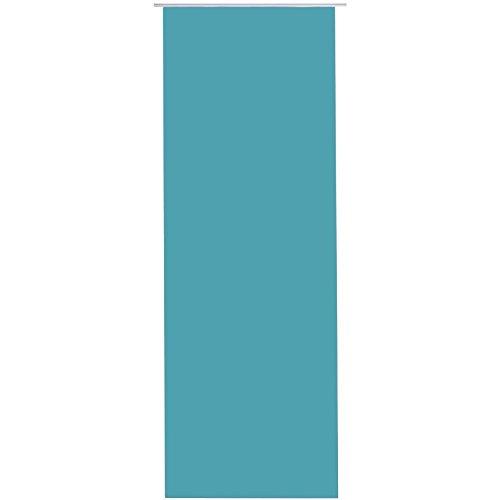Bestlivings Flächen-Vorhang Blickdicht Schiebe-gardine Raumteiler Schiebe-Vorhang ca.60cm x 245cm, Auswahl: ohne Zubehör, türkis - Pfauenblau
