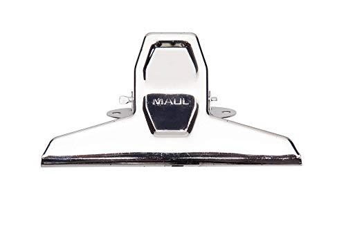 Montage-Klemmer MAULpro, montierbar, verwindungssteif, Stahl, 125 mm Breite, 20 mm Klemmweite, hellsilber