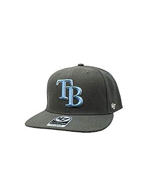'47 Tampa Bay Rays Brand Captain Snapback Hat Adjustable MLB Cap Straight Brim
