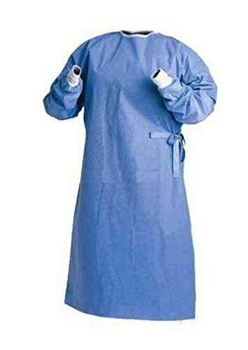 PIN MED - Camice Grembiule monouso di colore blu, non sterile, in polipropilene, per ospedale, cliniche, laboratori, prodotto certificato, peso 40 gr, disponibile in diversi kit (Kit 50 pz)