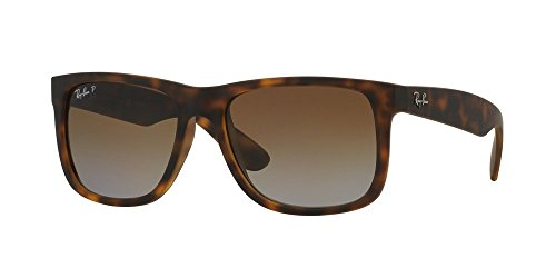 Ray-Ban Justin Classic Gafas de sol, Marrón (Tortoise Brown Gradient), 55 mm Unisex-Adulto